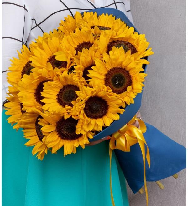 Букет-соло Солнце в подарок (9,15,25,35 или 51) – фото № 1