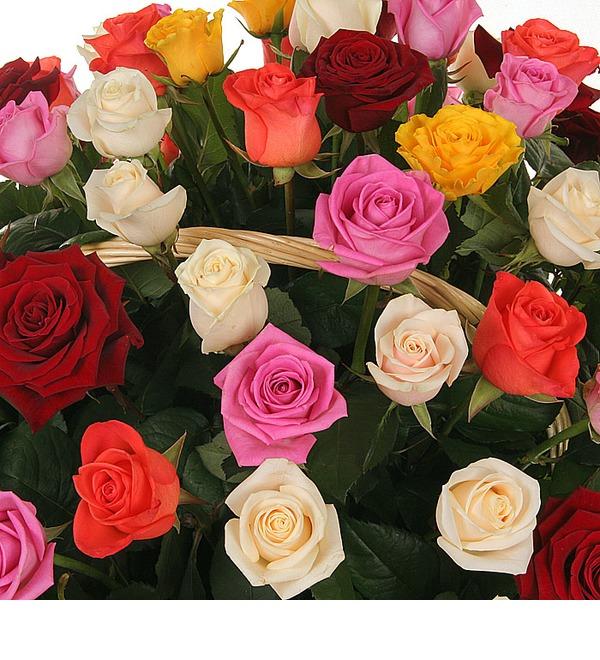 Композиция Праздничный салют (51, 101 или 201 роза) – фото № 5