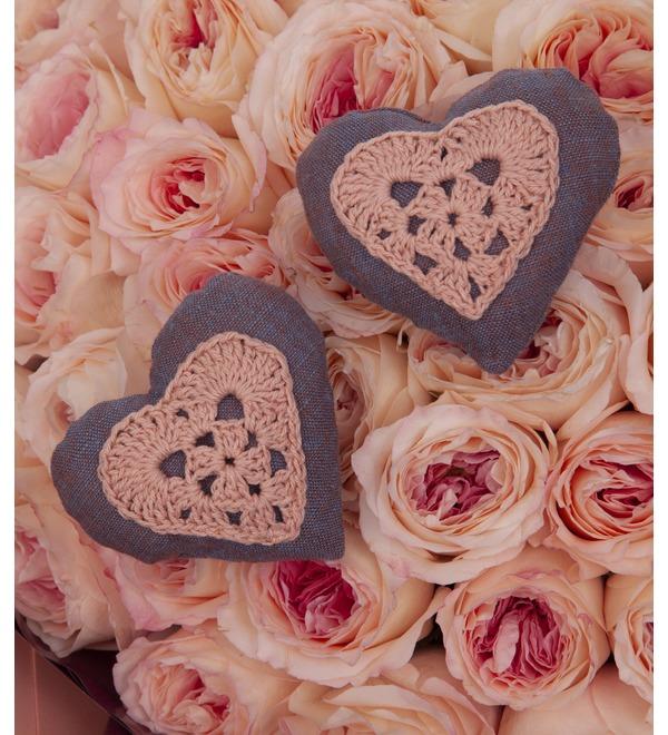Букет-соло пионовидных роз Два сердца (35,51,75,101 или 151) – фото № 2