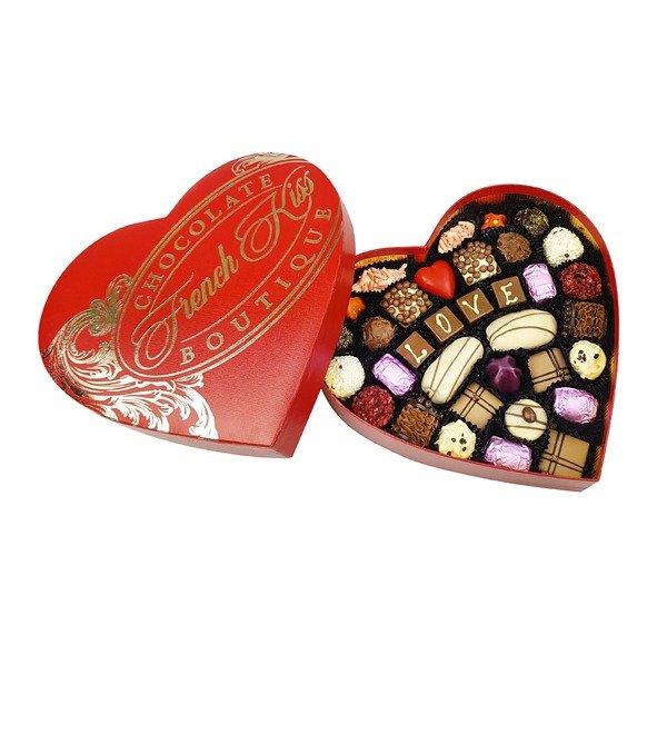 Конфеты ручной работы из бельгийского шоколада Красивая любовь – фото № 1