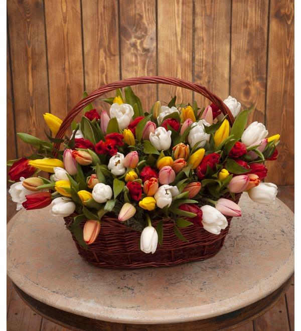 Композиция Яркие тюльпаны (51,101 или 201) – фото № 1