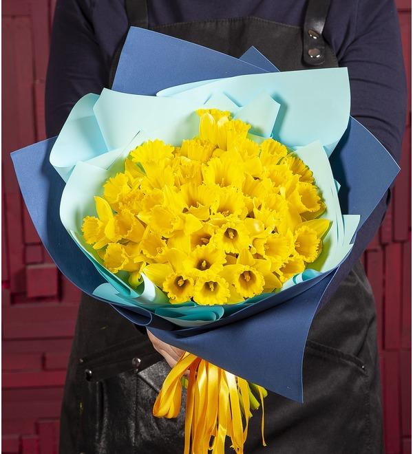 Букет-соло Жёлтые нарциссы (25,51,75 или 101) – фото № 1