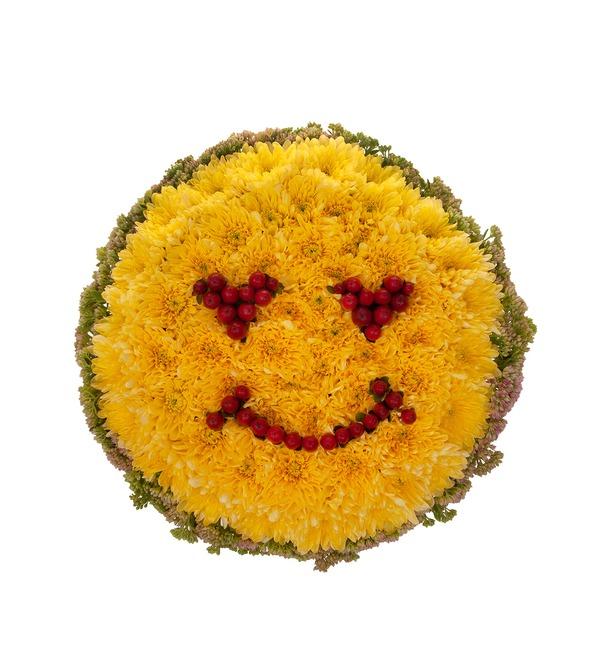Цветочный смайлик Влюблённость – фото № 4