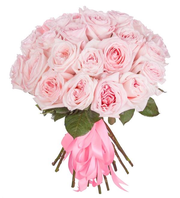 Букет ароматных пионовидных роз Pink OHara (15, 25 или 51) – фото № 5