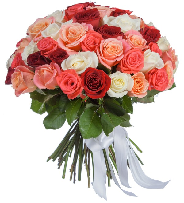 Букет Персиковое лето (25, 51, 101 роза) – фото № 2