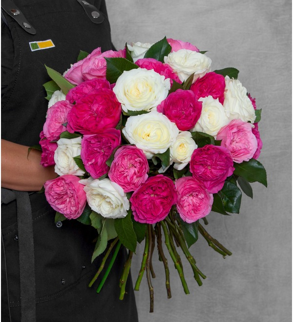 Букет из пионовидных роз Феерия (15, 25 или 51) – фото № 1