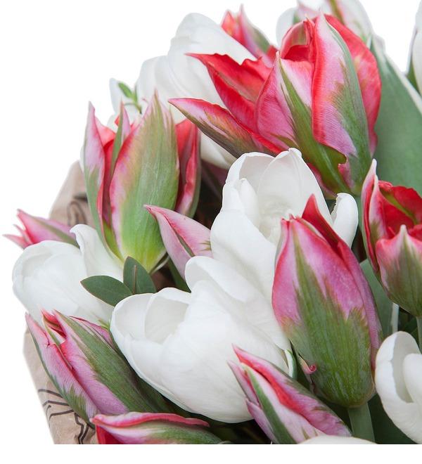 Букет из 51 тюльпана Классика цвета – фото № 4