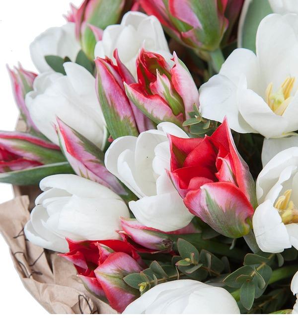 Букет из 51 тюльпана Классика цвета – фото № 3