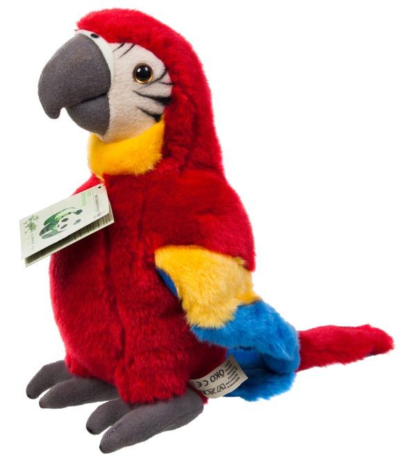 Мягкая игрушка Красный попугай (18 см) – фото № 1