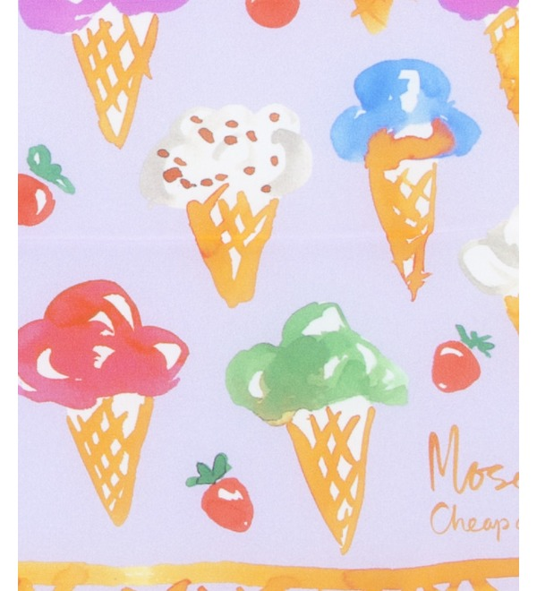 Шелковый платок MOSCHINO Сладкое наслаждение (Италия, 50х50 см) – фото № 2
