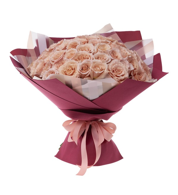 Bouquet-solo of Peony Rose Quicksand (15,25,35,51 or 75) – photo #4