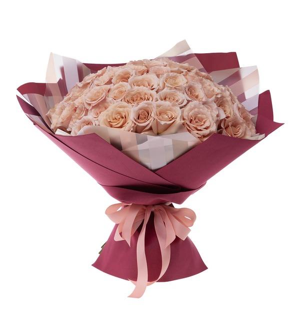 Букет-соло пионовидных роз Quicksand (9,15,25,35,51 или 75) – фото № 4
