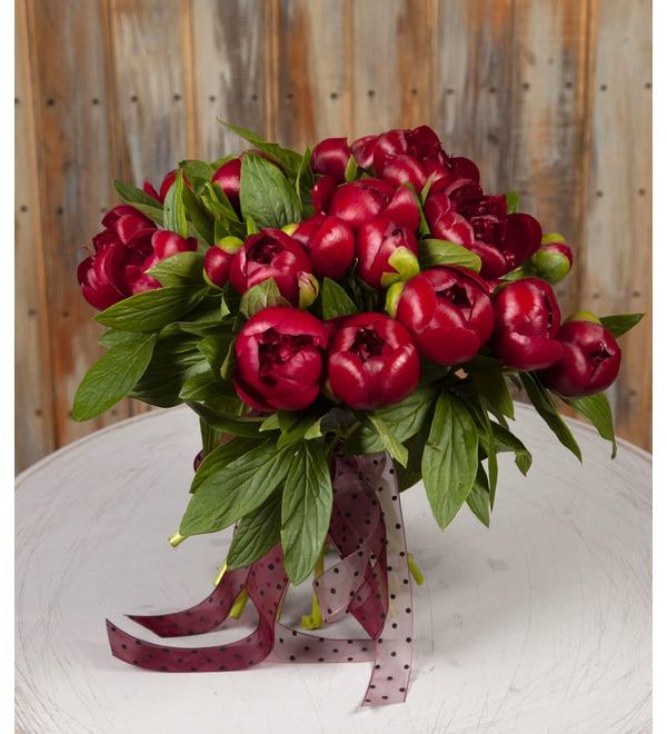 Букет-соло пионов Red Charm (15,25,35,51,75 или 101) – фото № 1