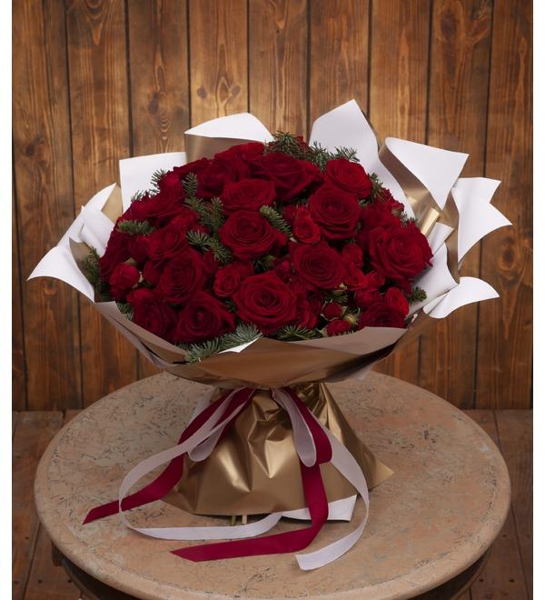 Букет-дуэт роз Мелодия сердца (15,25,35,51,75 или 101) – фото № 1