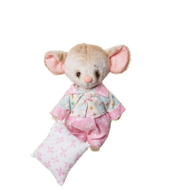 Handmade toy Mouse and Pillow (20 cm) – photo #1