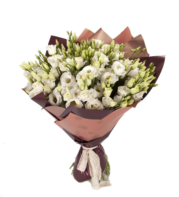 Bouquet-solo White eustoma (15,25,51 or 101) – photo #5