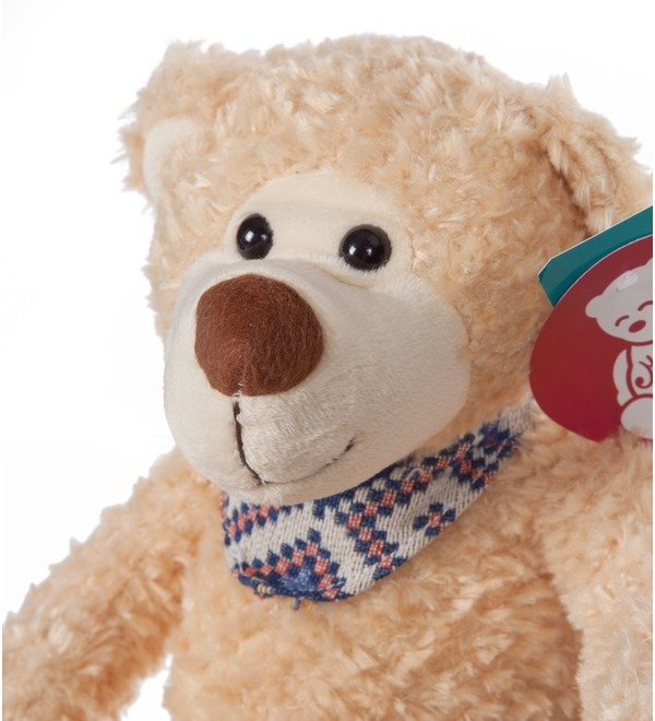 Soft toy Bear Theodore in a scarf (38 cm) – photo #2