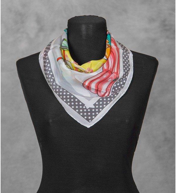 Шелковый платок MOSCHINO Круиз (Италия, 50х50 см) – фото № 3