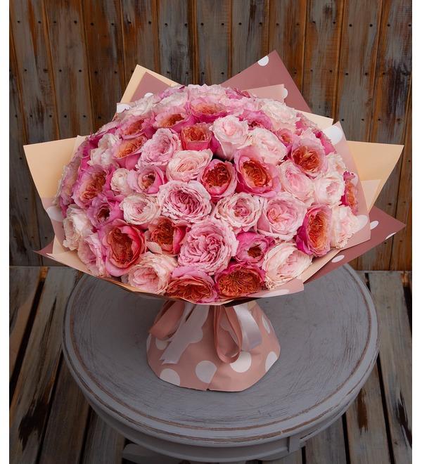Букет-дуэт японских роз Концерт под Луной (15,25,35,51,75 или 101) – фото № 1
