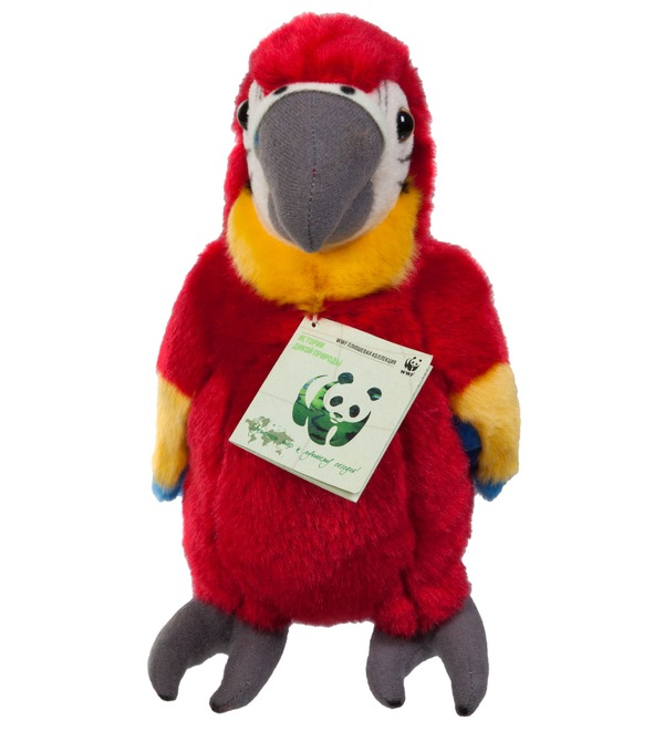 Мягкая игрушка Красный попугай (18 см) – фото № 2