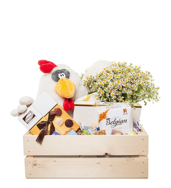Подарочное кашпо с букетом Очарован тобой – фото № 4