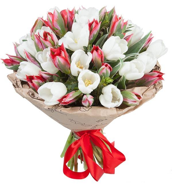Букет из 51 тюльпана Классика цвета – фото № 1