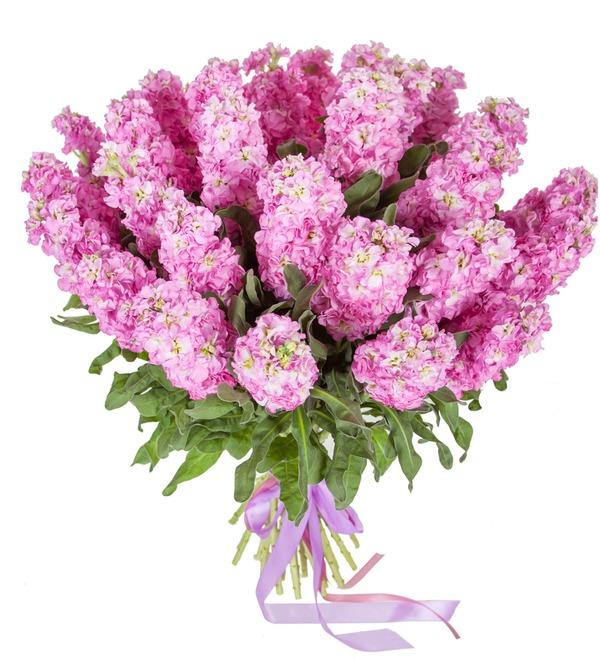 Букет розовой маттиолы (15, 25 или 51) – фото № 5
