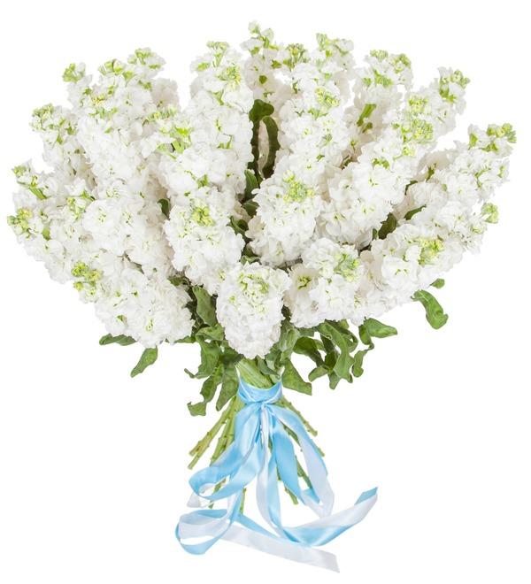 Букет белой маттиолы (15, 25 или 51) – фото № 5