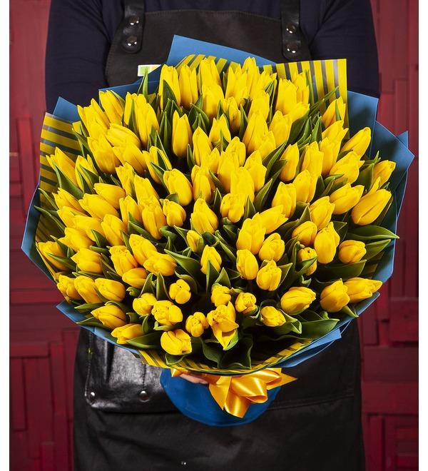 Букет-соло Тюльпаны Strong Gold (25,35,51,75 или 101) – фото № 1