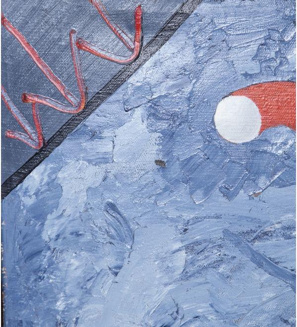 Картина NAFI Попытка контакта 1990г. ( холст, масло. 49*74) – фото № 2