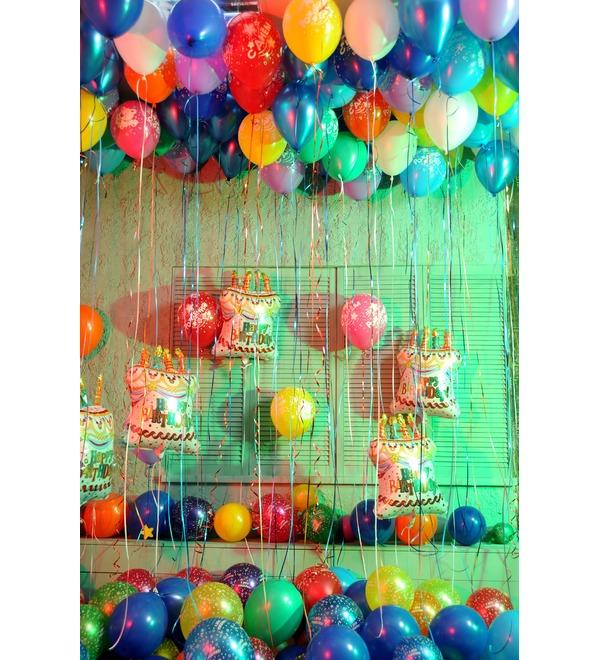 Оформление шарами С днем рождения! – фото № 4