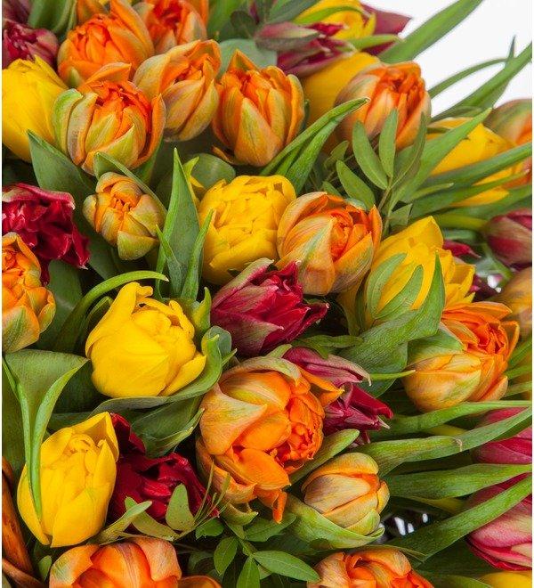 Композиция из пионовидных тюльпанов (151, 301 или 501шт.) – фото № 3