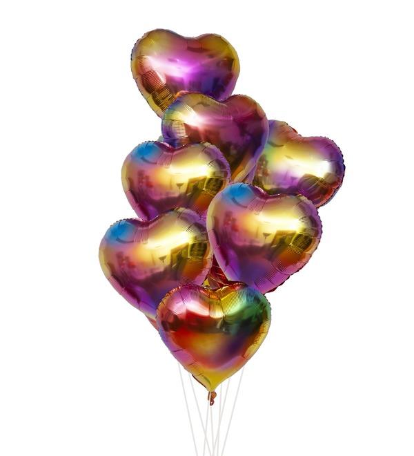 Букет шаров Палитра чувств (7 или 15 шаров) – фото № 1
