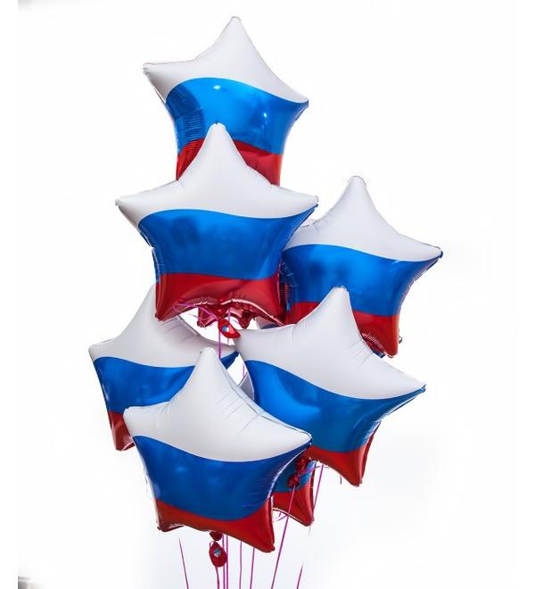 Букет шаров Россия (9 или 18 шаров) – фото № 1