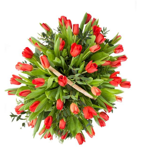 Композиция Красные тюльпаны – фото № 3