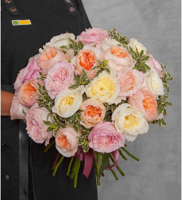 Bouquet-trio David Austin (15,25,51 or 75) – photo #1