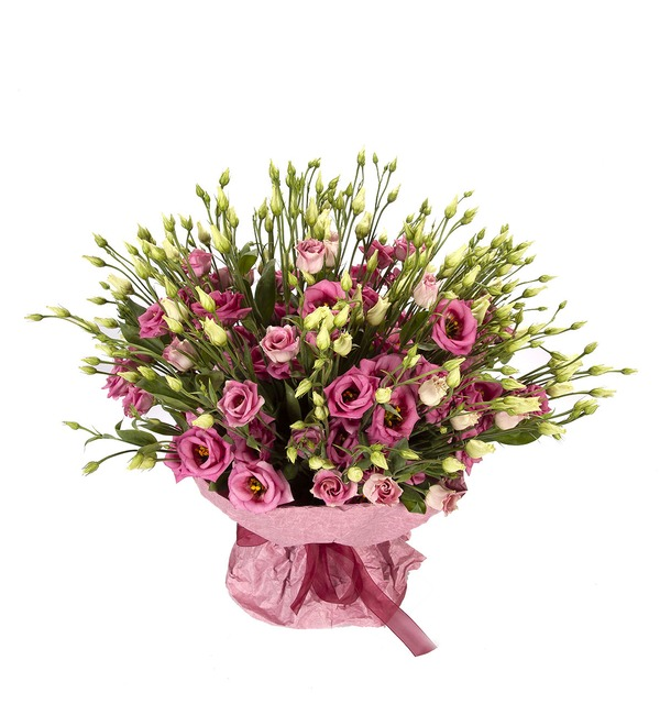 Bouquet-solo Pink eustoma (15,25,51 or 101) – photo #4