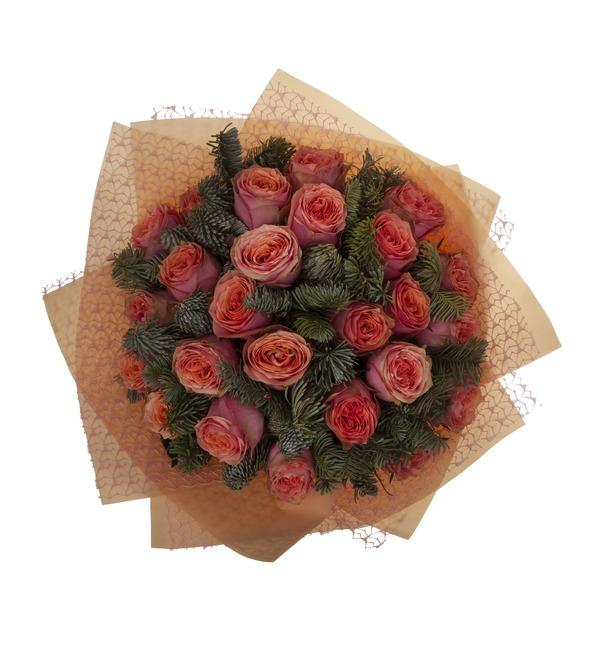 Букет-соло роз Лесная сказка (15,25,35,51,75 или 101) – фото № 3