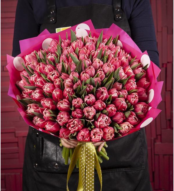Букет-соло Тюльпаны Columbus (15,25,35,51,75 или 101) – фото № 1