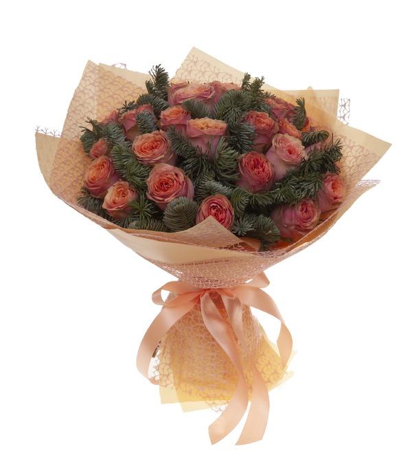 Букет-соло роз Лесная сказка (15,25,35,51,75 или 101) – фото № 5