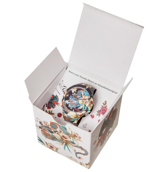 Часы Doodle Орхидеи и дракон – фото № 4