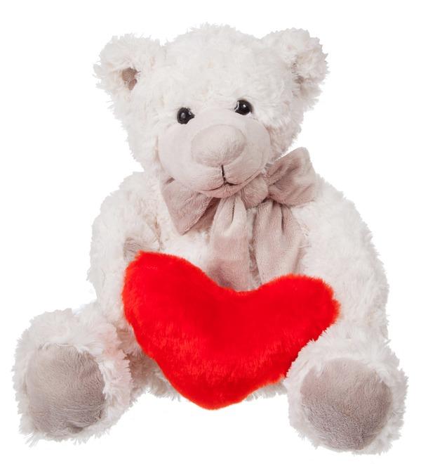 Soft toy Samuel Teddy Bear with Heart (28 cm) – photo #1