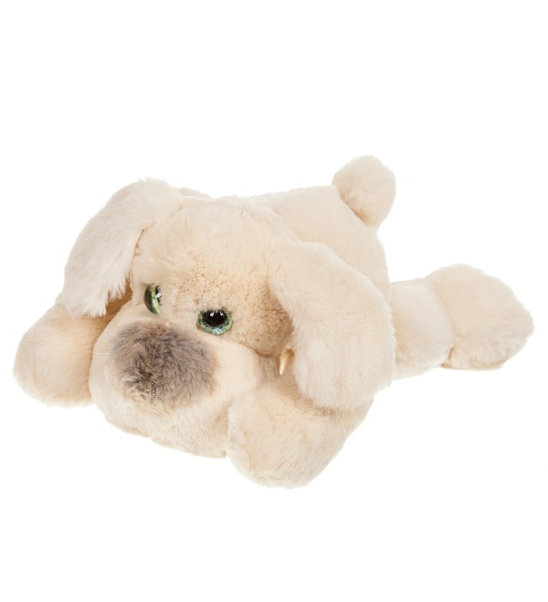 Toy from natural rabbit fur Dog (25 cm) – photo #1