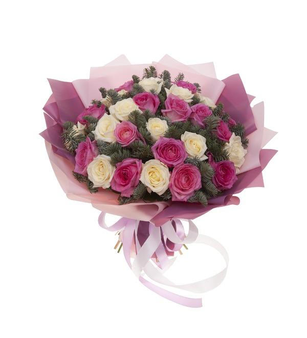 Букет-дуэт роз Стихия чувств (15,25,35,51,75 или 101) – фото № 4
