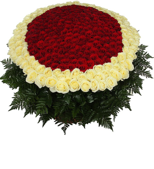 Композиция Море цветов (301 роза) – фото № 5