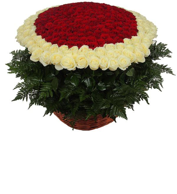 Композиция Море цветов (301 роза) – фото № 4