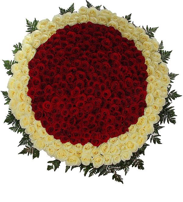 Композиция Море цветов (301 роза) – фото № 3