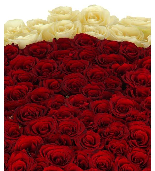 Композиция Море цветов (301 роза) – фото № 2