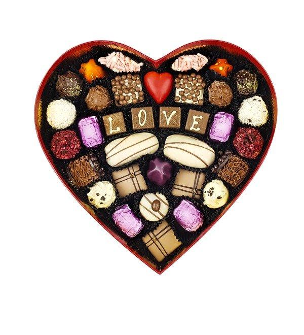 Конфеты ручной работы из бельгийского шоколада Красивая любовь – фото № 3