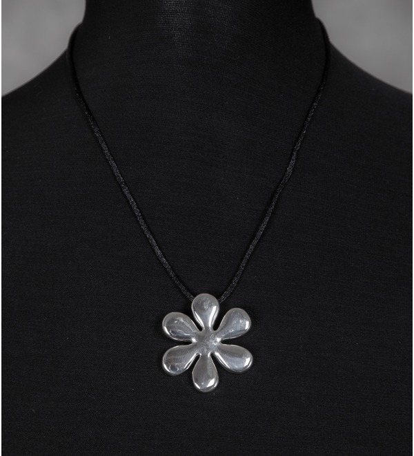 Серебряный кулон Цветок – фото № 1